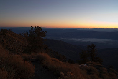 Telescope Peak Trail - Death Valley - California Shortly before sunrise