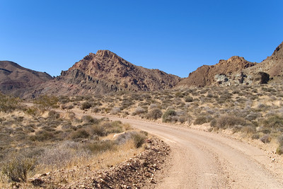 Entering Grapevine Mountains on road to Titus Canyon - Death Valley - California