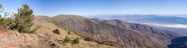 Telescope Peak Trail - Death Valley - California Looking north to Rogers Peak