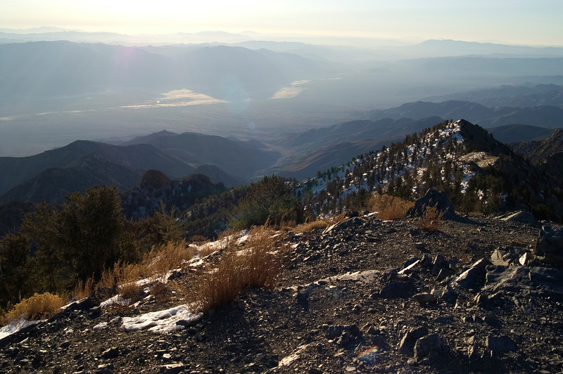 Telescope Peak Trail - Death Valley - California<br /> Looking down on Badwater, early in the morning