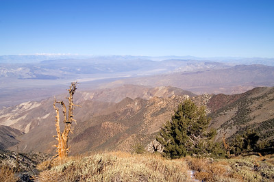 Telescope Peak Trail - Death Valley - California Looking north-west over Panamint Valley to the High Sierra