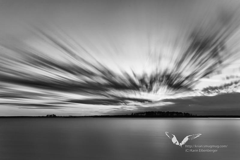 January 1st, 2012. Blackwater National Wildlife Refuge. Sunset.