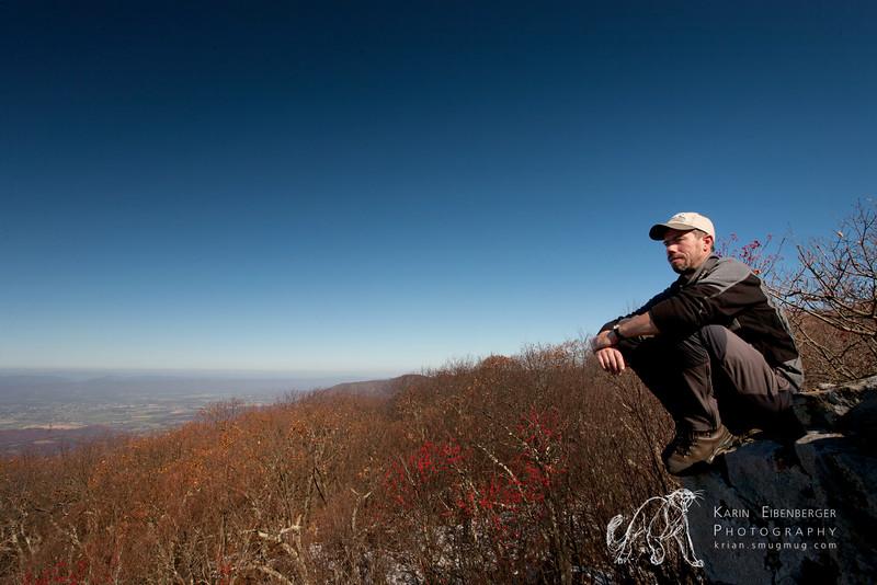 November 2011. Hike onto Hawksbill mountain, Shenandoah National Park.