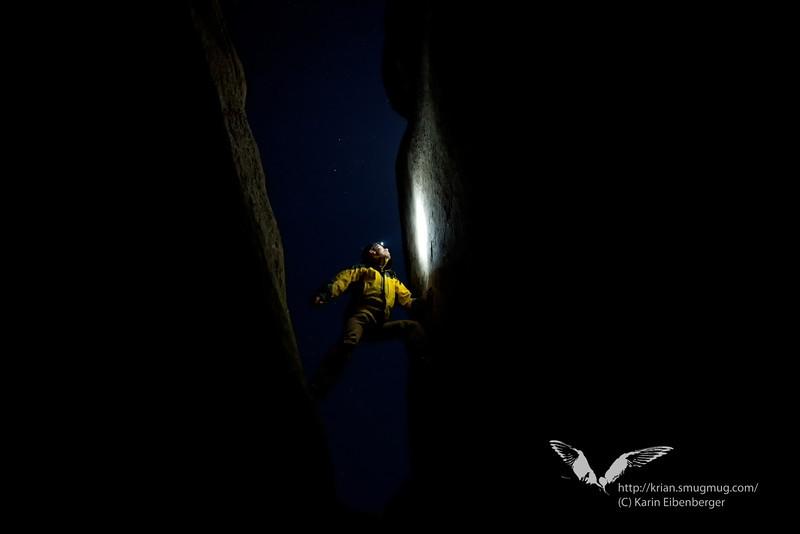 March 2012. Hidden Valley at night.