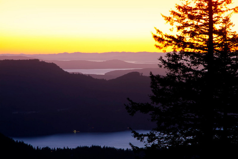 View over San Juans from Mt Constitution, Orcas Island
