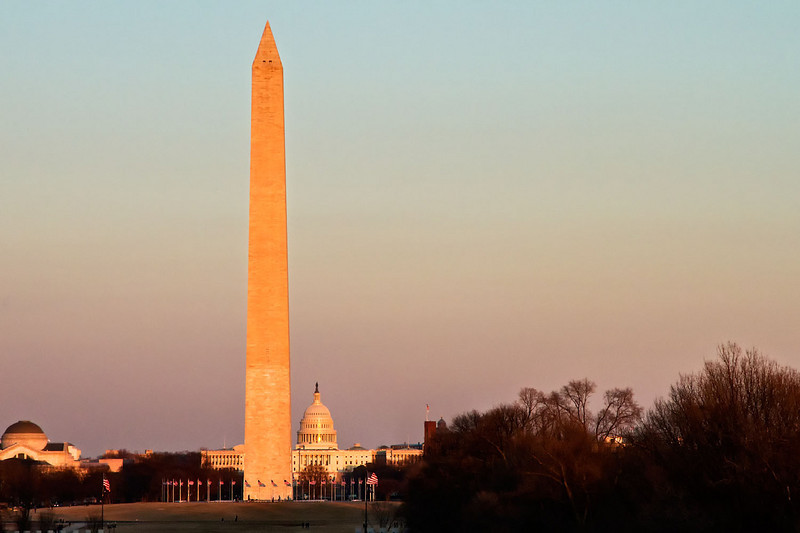 Washington Monument Winter Sunset