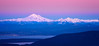 Mount Baker just after sunset from Mount Constitution, Orcas Island