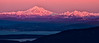 Mount Baker at sunset from Mount Constitution, Orcas Island