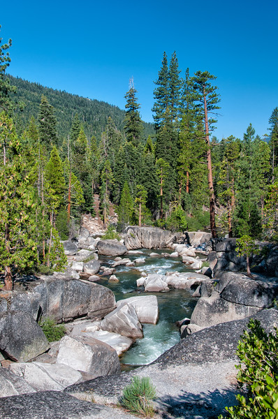 Middle Fork of the Stanislaus River, Stanislaus National Forest, California. July 2013. [Stanislaus 2013-07 009 CA-USA_TC&S]
