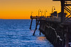 San Clemente Beach Pier at sunset, November 2017. [San Clemente 2017-11 015 CA-USA]