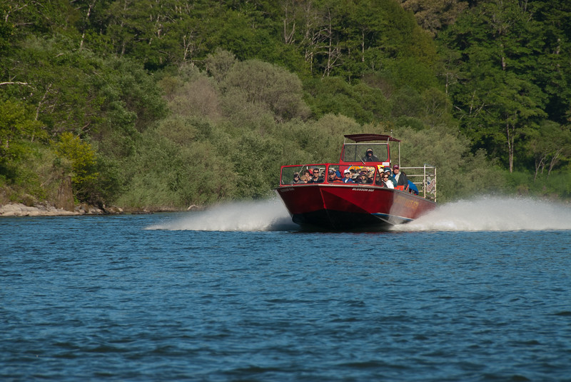 Jet boating on the Rogue River, Oregon, June 2011