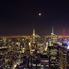 Top of the rock at night