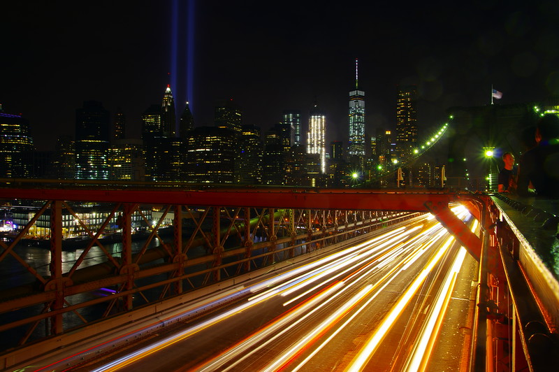 9/11 at Brooklyn Bridge, New York City