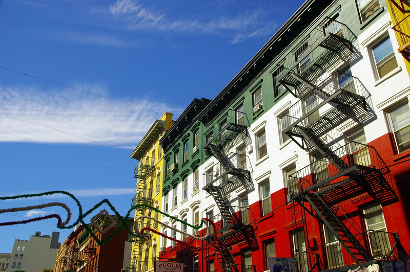 Little Italy on a sunny day