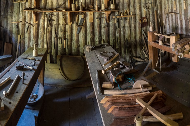 Early colonial workbench