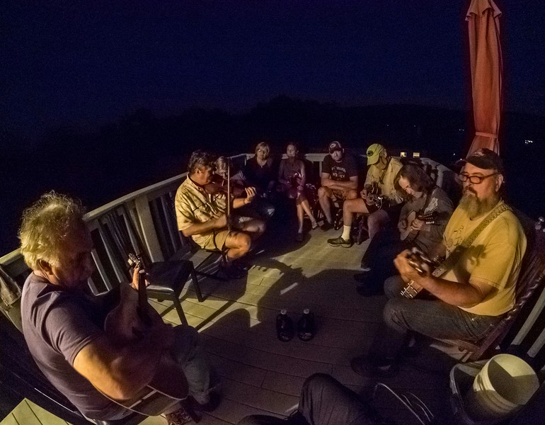 Music on the deck after sundown, Pa