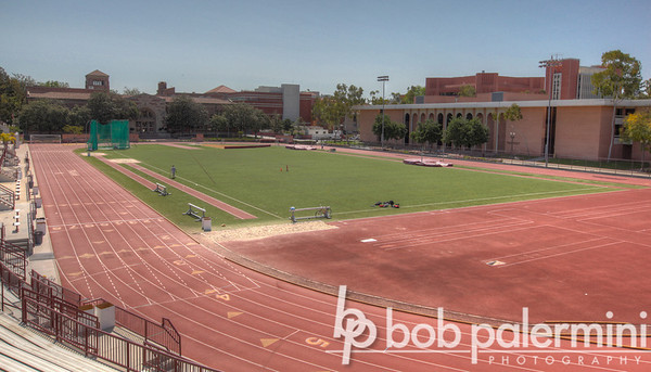 Cromwell Field, practice field for the Trojan Marching Band, University of Southern California (USC) campus