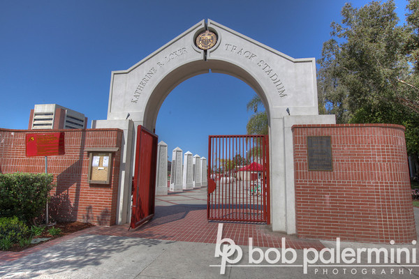 Loker Track Stadium entrance, University of Southern California (USC). Proving grounds for many, many Olympic athletes.