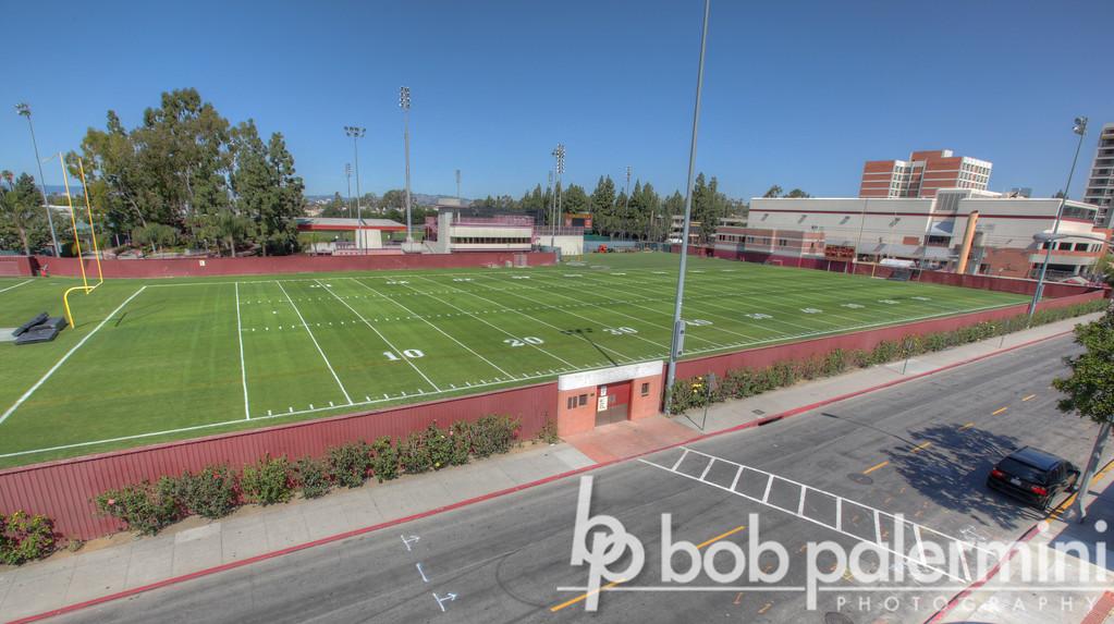Howard Jones Field, USC football practice field, University of Southern California campus