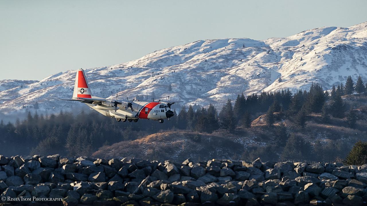 Snowy Landing- C130