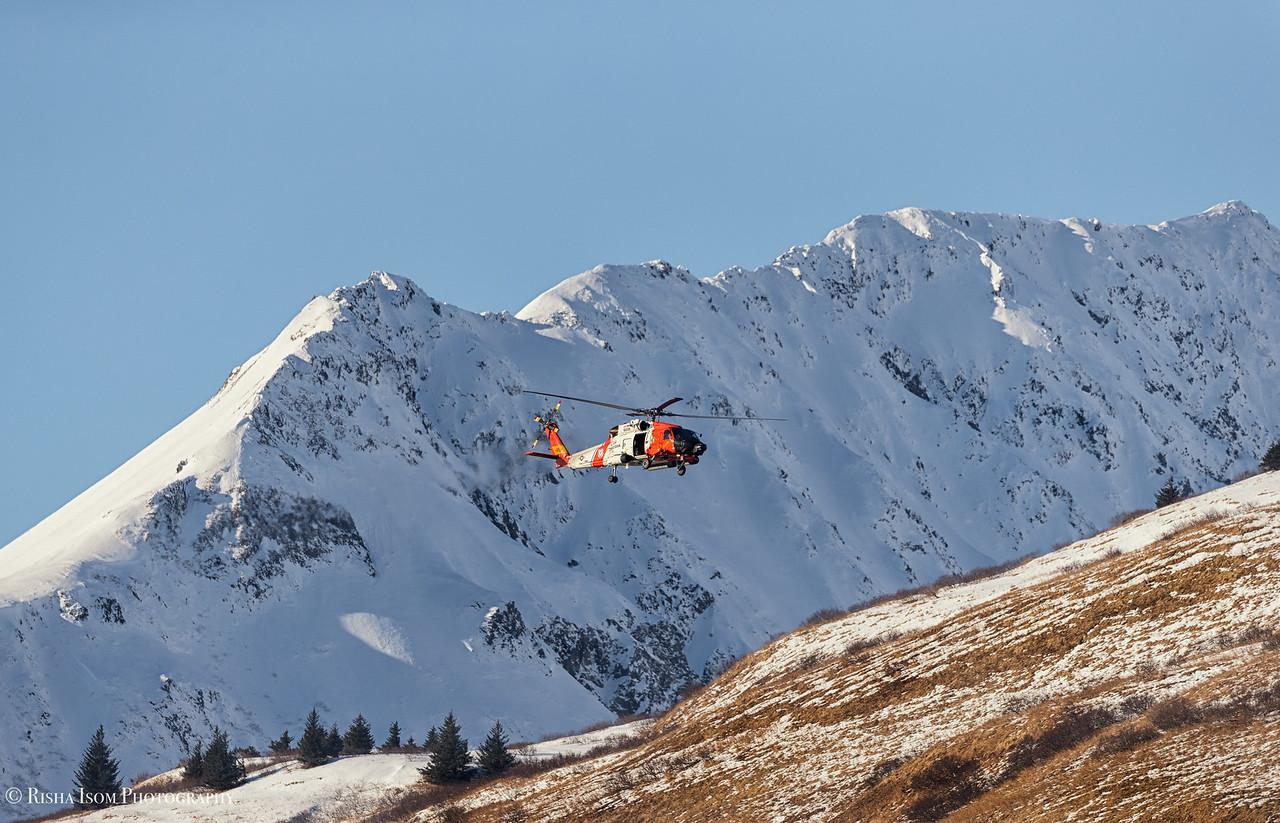 Coast Guard H60 In Winter