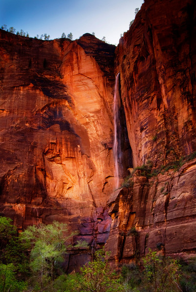 Small Waterfall near the Temple of Sinawava - Zion National Park