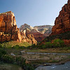 Angels Landing from the Canyon Floor - Zion National Park