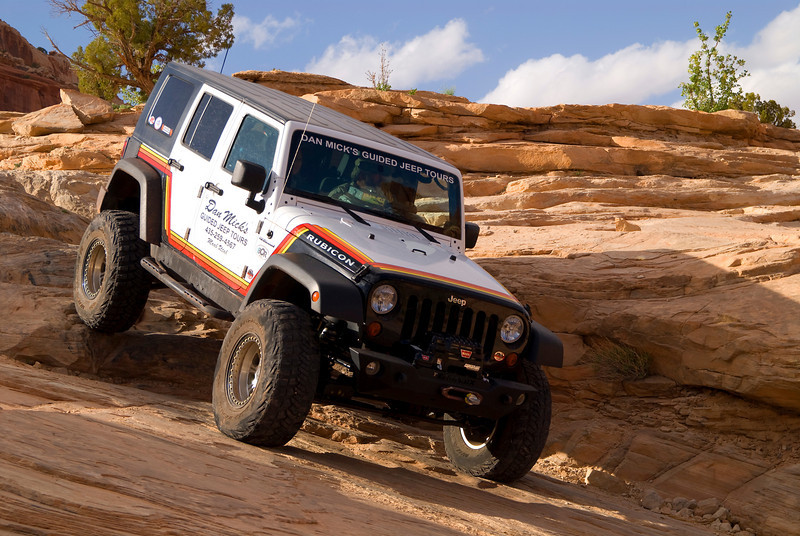 Jeeping at Wipeout Hill Outside Moab