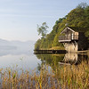 The famous Ullswater Boat House on the edge of Ullswater in the Cumbrian Lake District, England