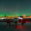 Twin Piper Under The Lights -Chena Hot Springs Resort, Fairbanks, Alaska