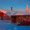 Alaskan Cabin Alone On Hill -Fairbanks, Mt Aurora Skiland, Alaska