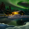 Take 1 Cabin House Under Green Lights -Chena Hot Springs Resort, Fairbanks, Alaska
