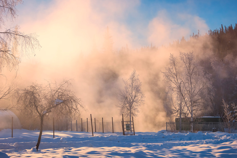 A Quiet Mornign On Chena Hot Springs -Chena Hot Springs Resort, Fairbanks, Alaska