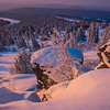 Last Light Over The Winter Valley -Fairbanks, Mt Aurora Skiland, Alaska
