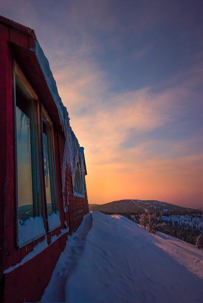 Reflections Of A Sunset -Fairbanks, Mt Aurora Skiland, Alaska