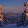 Touch Of Warm And Pink -Fairbanks, Mt Aurora Skiland, Alaska