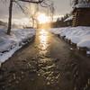Sun Peaks Through Onto The River -Chena Hot Springs Resort, Outside Fairbanks, Alaska