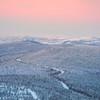 Overlooking Alpenglow Valley In Winter -Fairbanks, Mt Aurora Skiland, Alaska