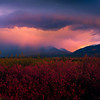 Rainclouds During A Stormy Sunset