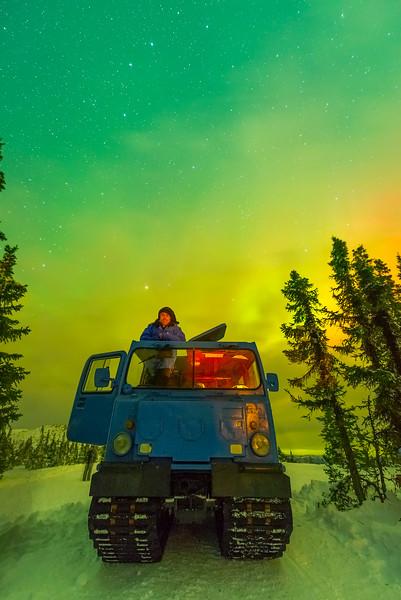 Under The Light -Chena Hot Springs Resort, Fairbanks, Alaska