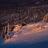 Spotlight On Cliff -Fairbanks, Mt Aurora Skiland, Alaska