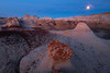 Mushroom Hoodoos Under The Moonlight -  Bisti/De-Na-Zin Wilderness, New Mexico
