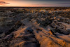 Rim Light On The Cracks Of History -  Bisti/De-Na-Zin Wilderness, New Mexico