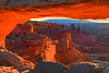 The Roof Is On Fire - Mesa Arch, Canyonlands National Park, Utah