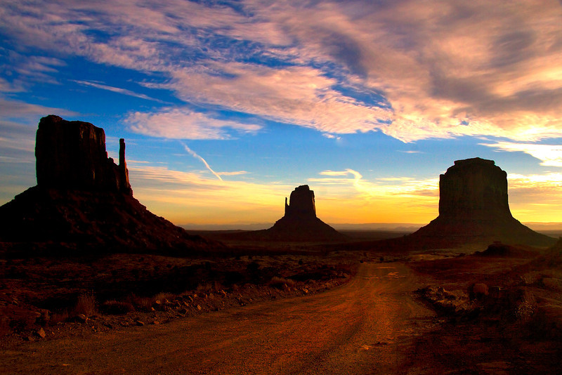 The Road Less Travelled To The Mittens - Monument Valley National Monument, Arizona