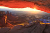 Sunburst Through Mesa Arch - Mesa Arch, Canyonlands National Park, Utah