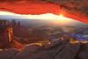 Sunburst Through Mesa Arch - Mesa Arch, Canyonlands National Park, Utah