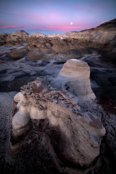 Venus Twilight Under The Full Moon -  Bisti/De-Na-Zin Wilderness, New Mexico