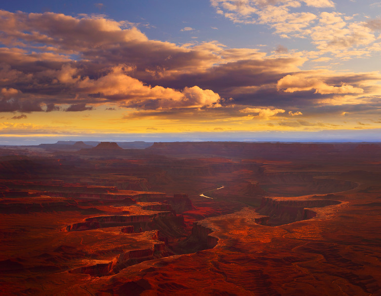 Canyon Carveouts Of Color And Light - Green River Overlook, Canyonlands National Park, Utah