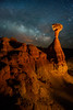 Milky Way Above The Toadstool Hoodoos - Toadstool Hoodoos, Kanab, Utah